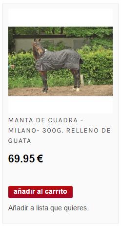 comprar mana de cuadra para caballos