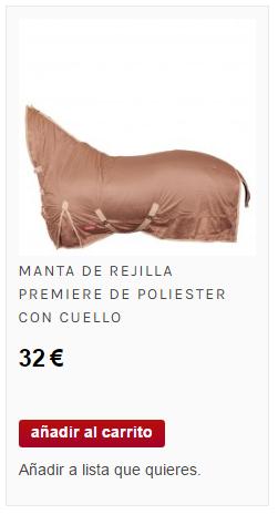 manta con cuello de caballo de poliéster