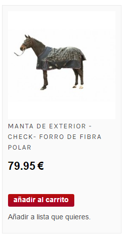 manta para caballos de exterior
