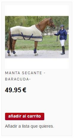 manta secante para caballos