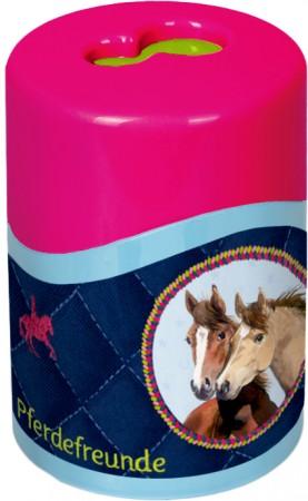 Sacapuntas ovalado con fotos de caballos
