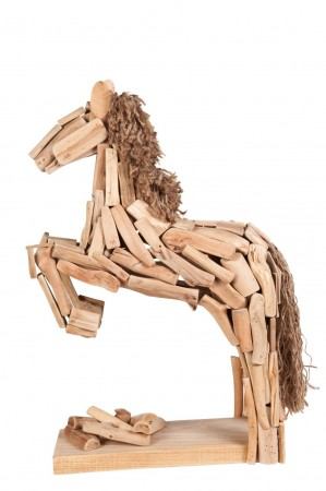 Figura  caballo  saltando  30  x  18  x9  cm