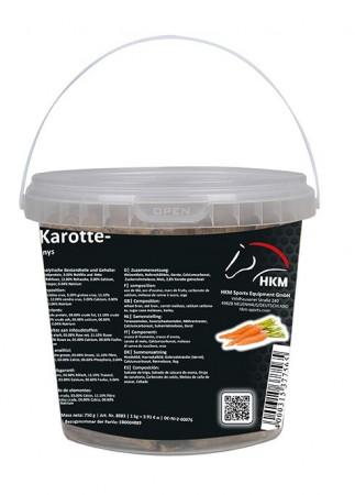 Golosina  de  caballo  -zanahoria-  en  un  cubo  750  g