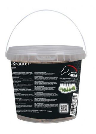 Golosina  de  caballo  -hierbas-  en  un  cubo  750  g