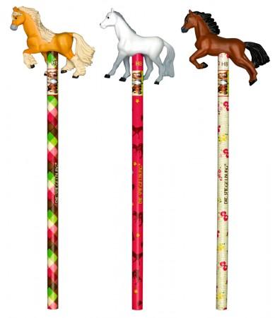 Lápiz con detalle caballos