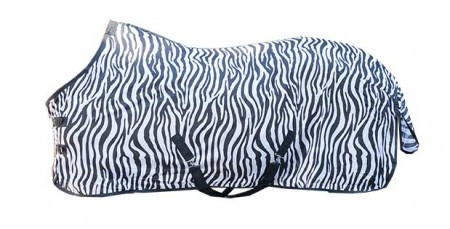 Manta  anti-moscas  -Zebra-  con  cinturón  cruzado