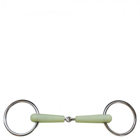 BR  Single  Jointed  Loose  Ring  Snaffle  Apple  Mouth  18  mm