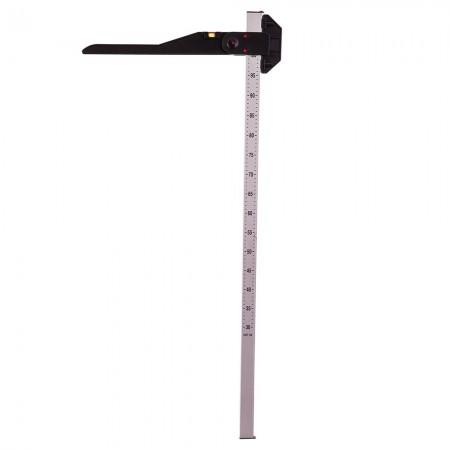 Medidor de altura de aluminio con nivel