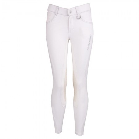 Pantalones de montar Mika para niños culera microfibra con rodilleras silicona