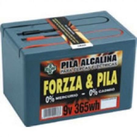 Pila Forzza Alcalina 9V. 365 W.hora