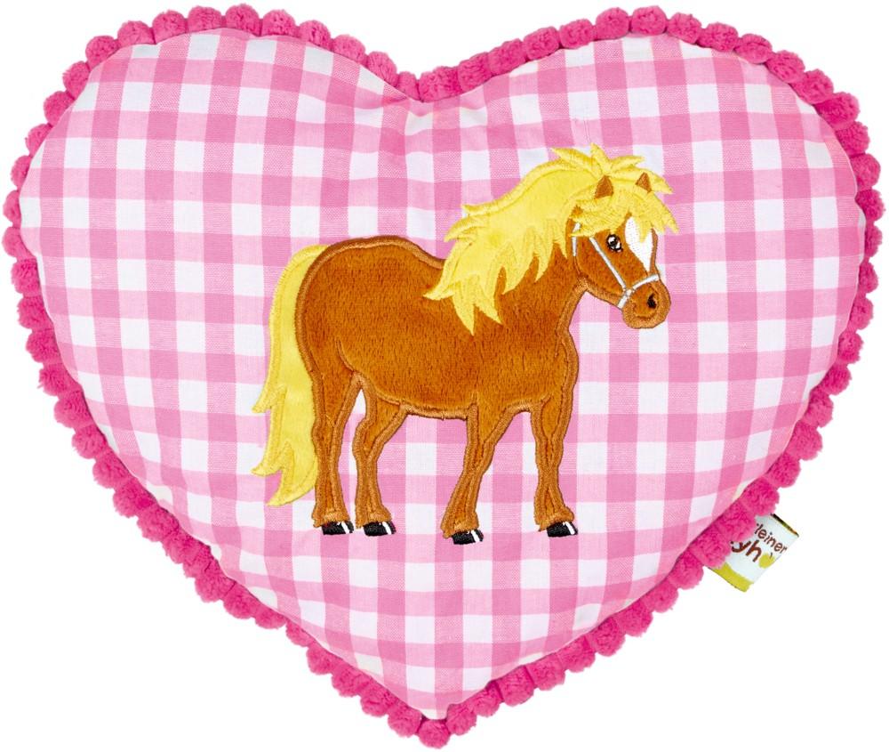 Cojín almohada rosa pequeño pony patio
