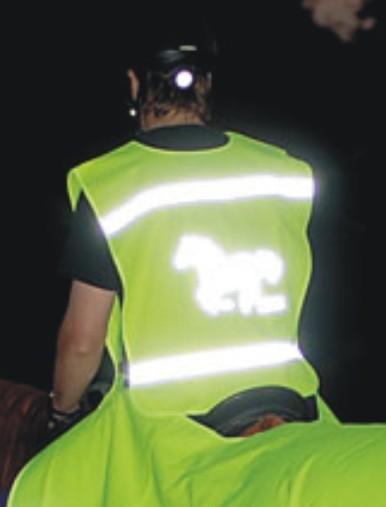 Chaleco de montar reflectante, talla única