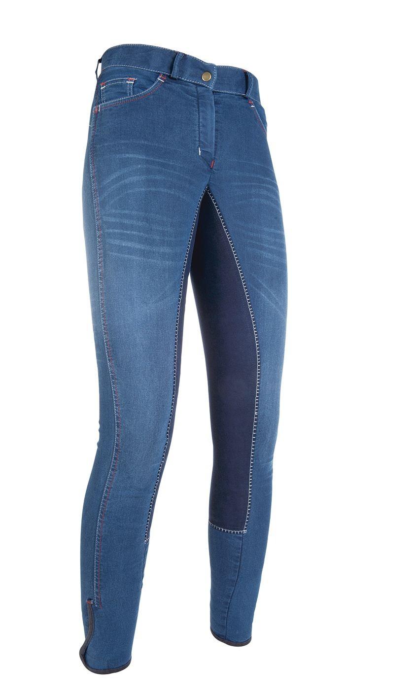 Pantalón  de  montar  -Summer  Denim-  con  3/4  revestim