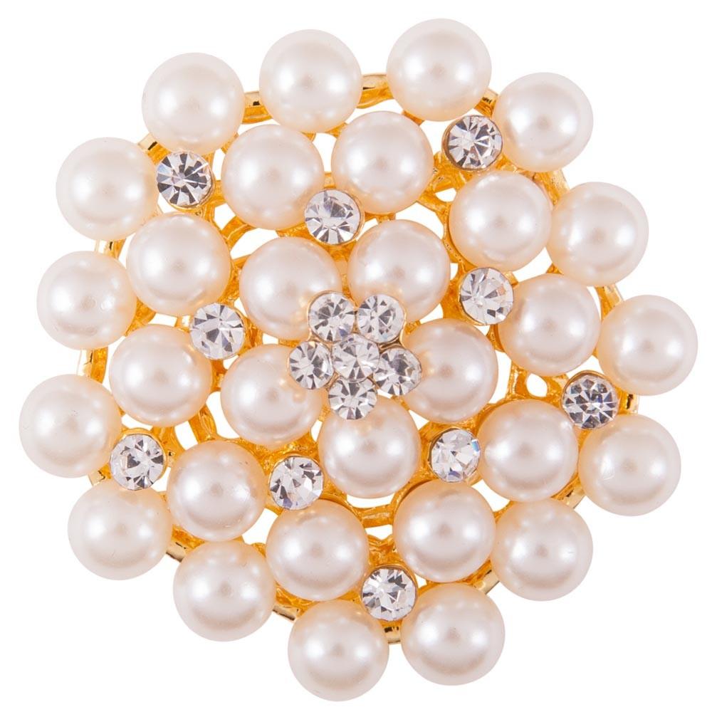 Aguja de plastrón BR Bella con perlas