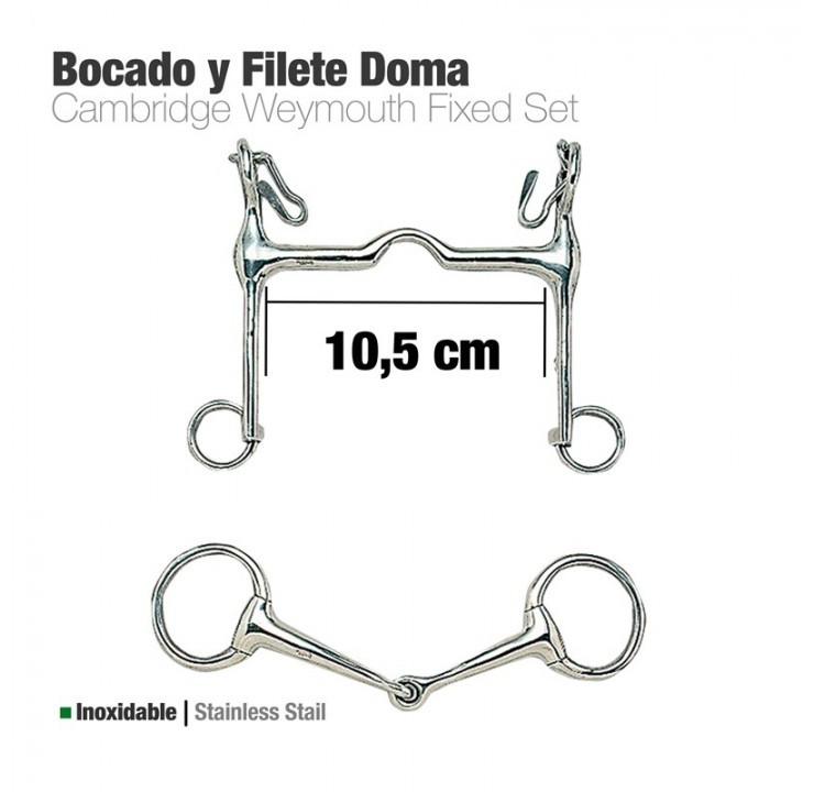 Bocado y Filete Inox Doma