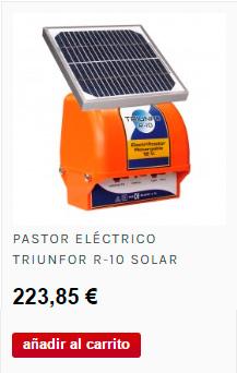 Pastor eléctrico de recarga solar