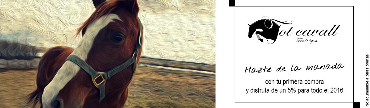 5% descuento en tot-cavall